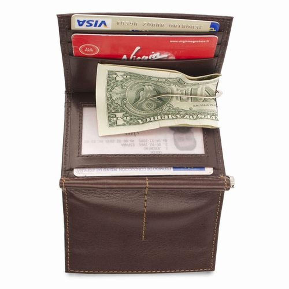 Peněženka s klipem na bankovky hnědá