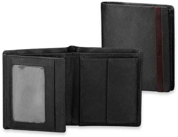 GRIMALDO kožená pánská peněženka, s ochranou kreditních karet, SANTINI, černá