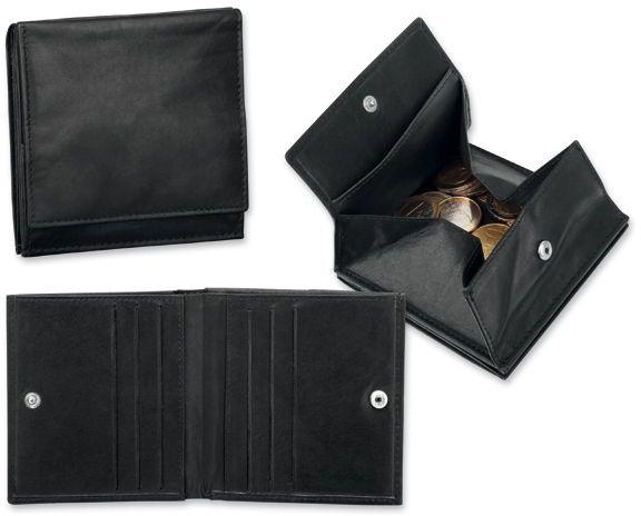 MOREY kožená pánská peněženka, černá