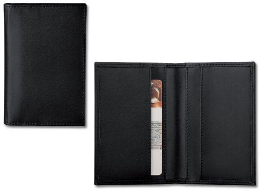 HUBERT pouzdro z imitace kůže na vizitky nebo platební karty, černá