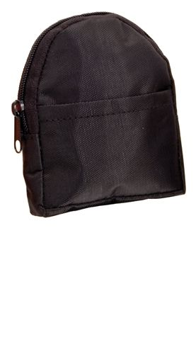 Černá peněženka ve tvaru batůžku
