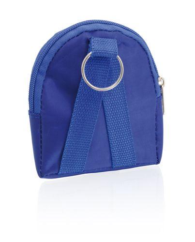 Modrá peněženka ve tvaru batůžku