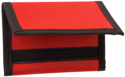 Červená peněženka polyester