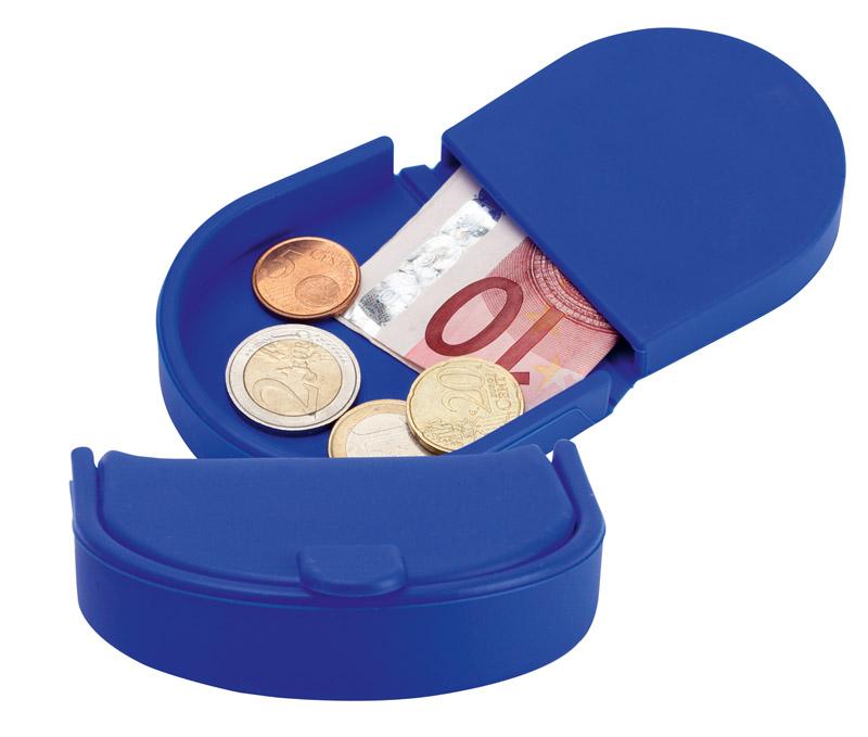 Modrá silikonová peněženka na mince
