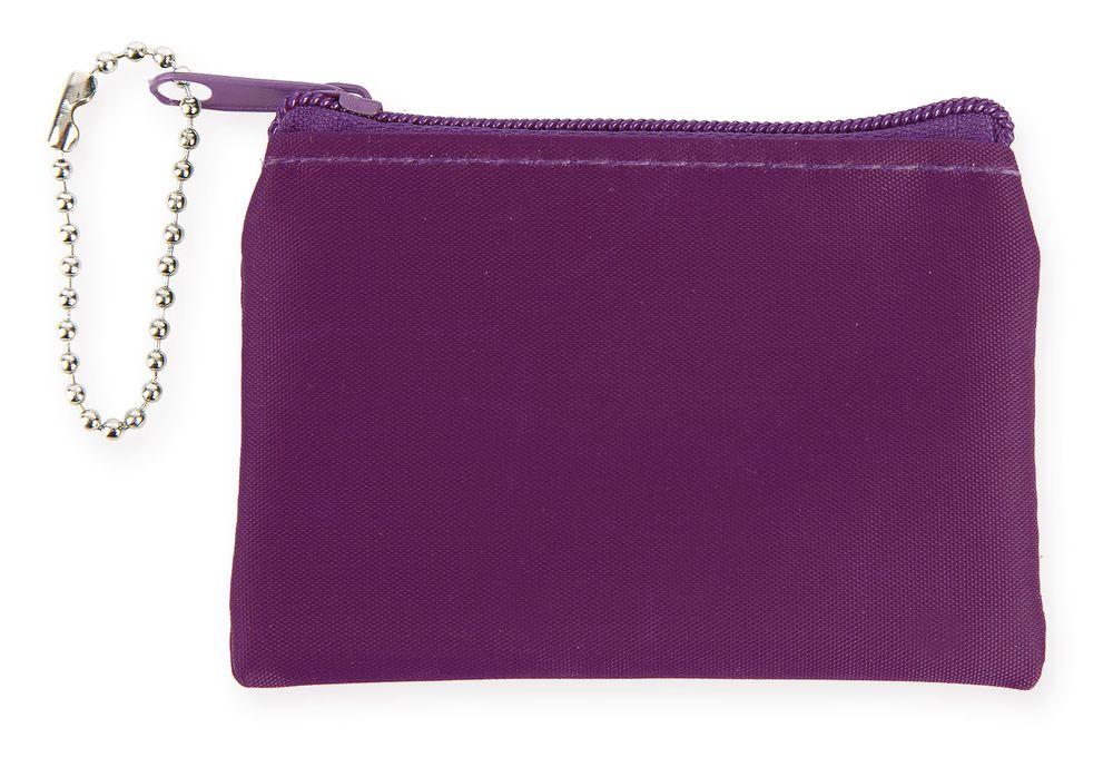 Přívěšek na klíče-peněženka fialová
