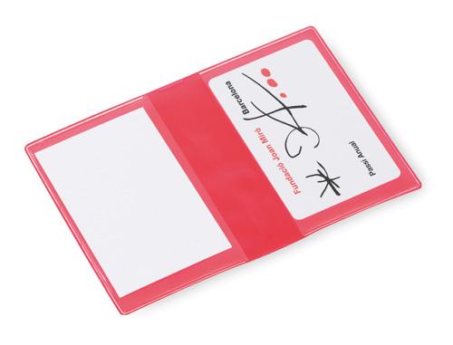 Letrix červený obal na kreditní karty s potiskem