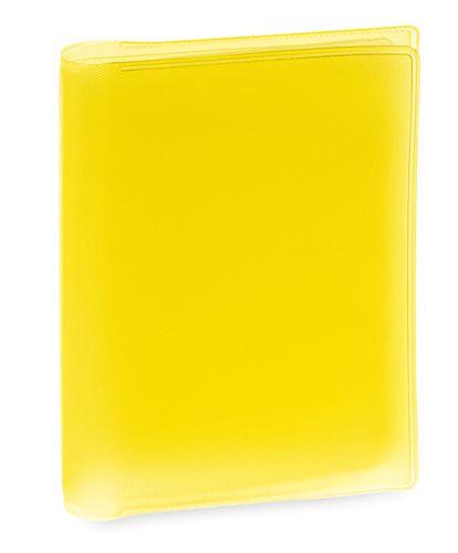 Obal na kreditní karty žlutý, 6 přihrádek