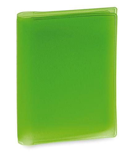 Obal na kreditní karty zelený, 6 přihrádek