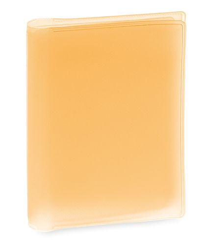 Obal na kreditní karty oranžový, 6 přihrádek
