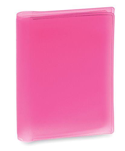 Obal na kreditní karty růžový, 6 přihrádek