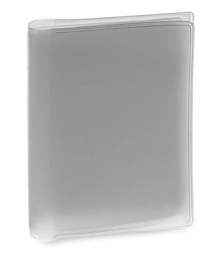 Obal na kreditní karty stříbrný, 6 přihrádek