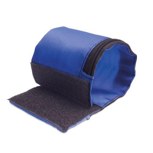 Modrá peněženka na zápěstí polyester