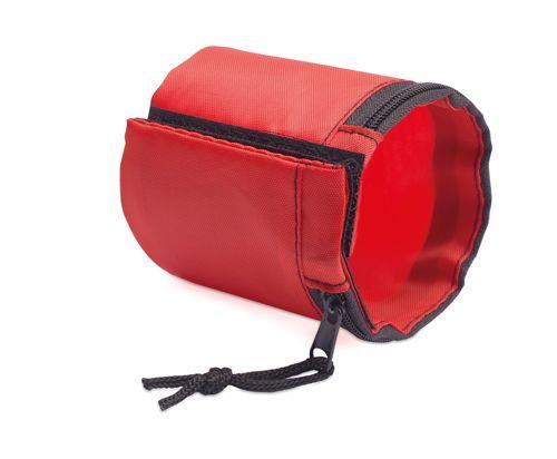 Červená peněženka na zápěstí polyester