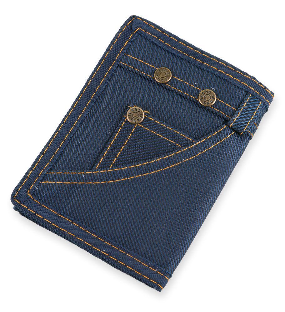 Džínová peněženka modrá
