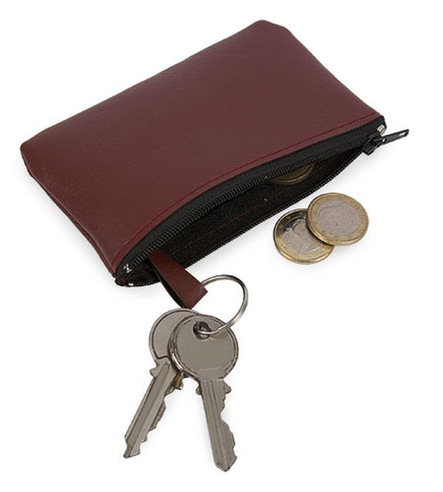 Klíčenka s peněženkou vínová