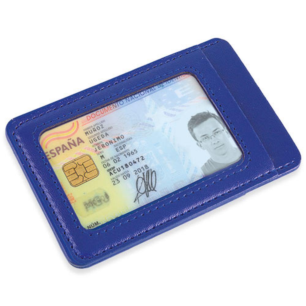 Peněženka na karty modrá