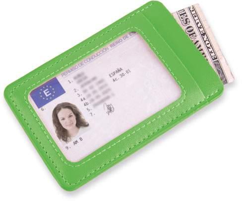 Peněženka na karty, světle zelená