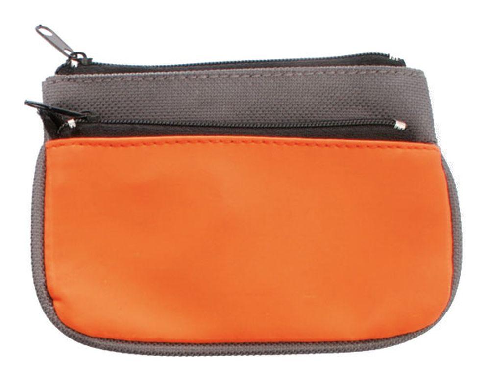 Peněženka s kroužkem na klíče šedo-oranžová