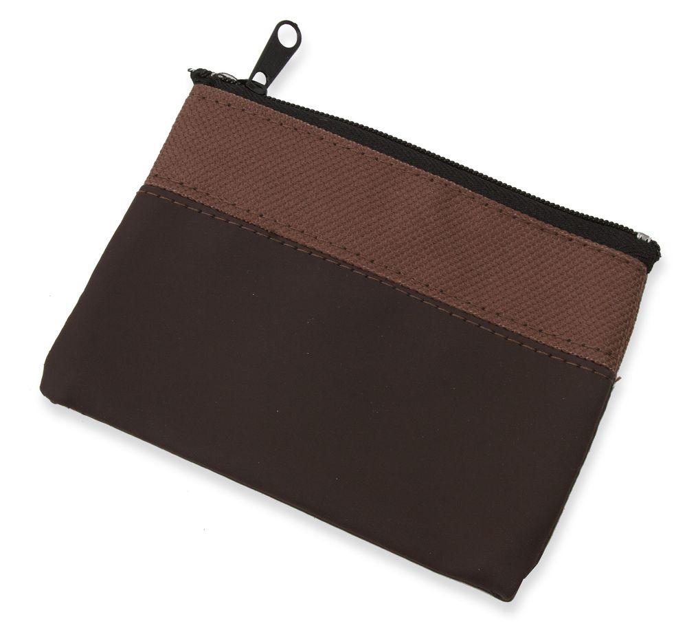 Dvoubarevná peněženka hnědo-tmavě hnědá