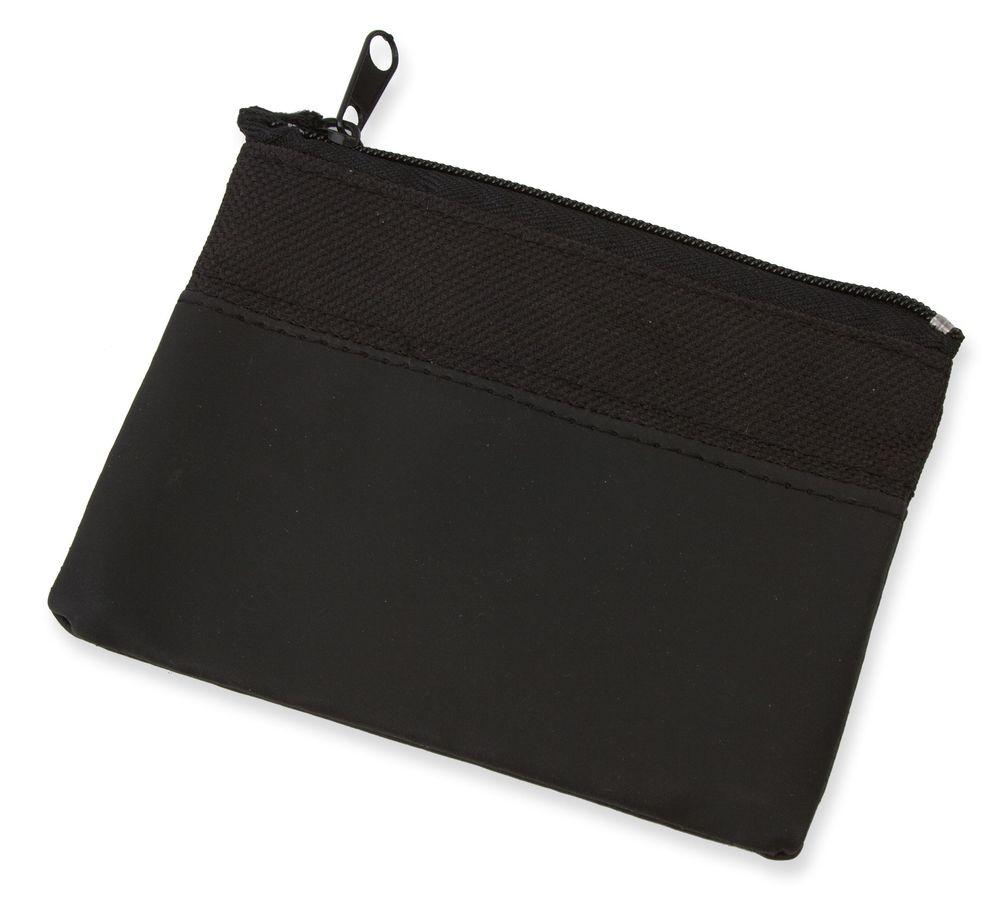 Dvoubarevná peněženka černá