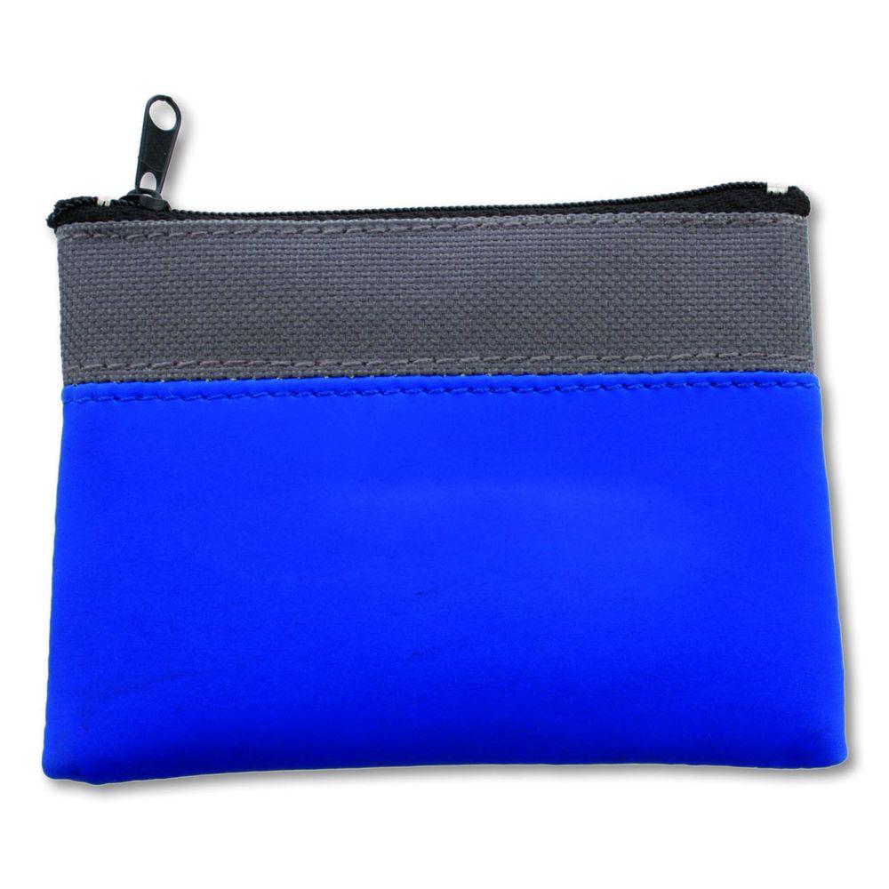 Dvoubarevná peněženka šedo-modrá