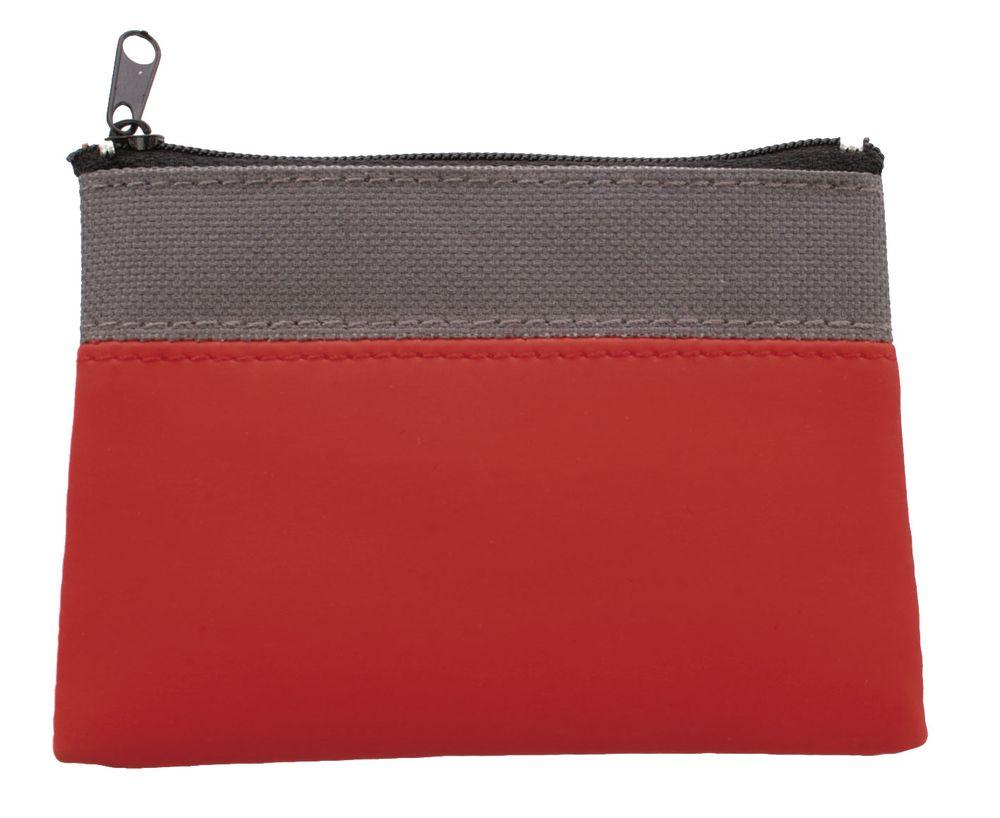 Dvoubarevná peněženka šedo-červená