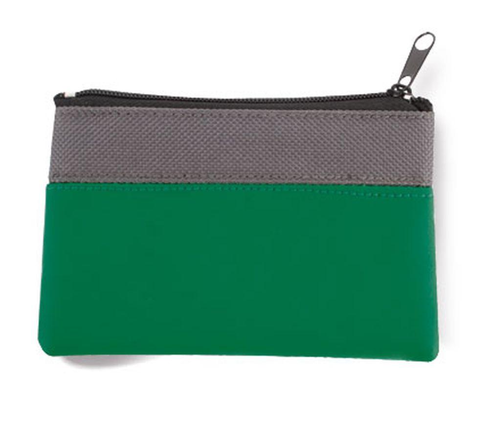 Dvoubarevná peněženka šedo-zelená