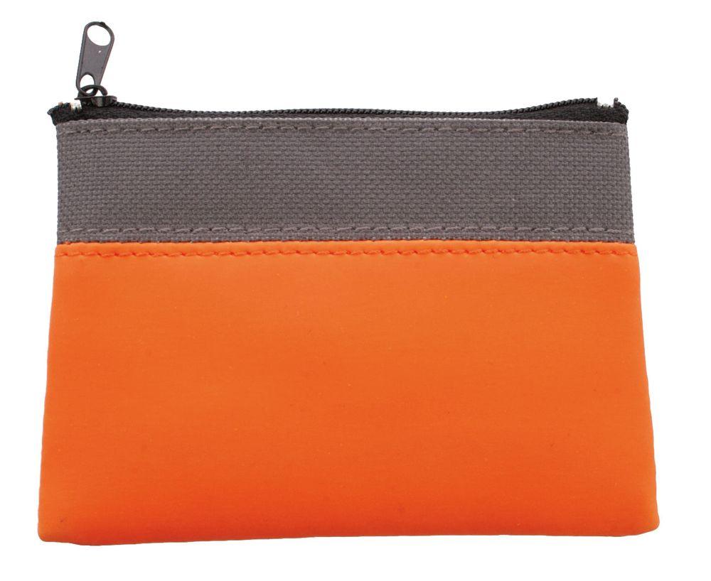 Dvoubarevná peněženka šedo-oranžová
