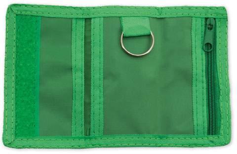 Peněženka s kroužkem na klíče, zelená