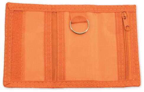 Peněženka s kroužkem na klíče, oranžová