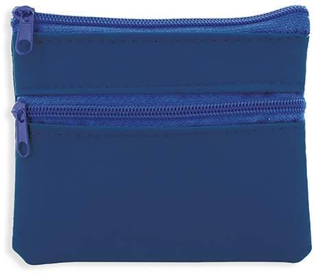 Peněženka se dvěma zipy, modrá