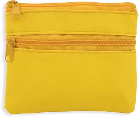 Peněženka se dvěma zipy, žlutá