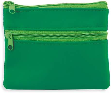 Peněženka se dvěma zipy, zelená