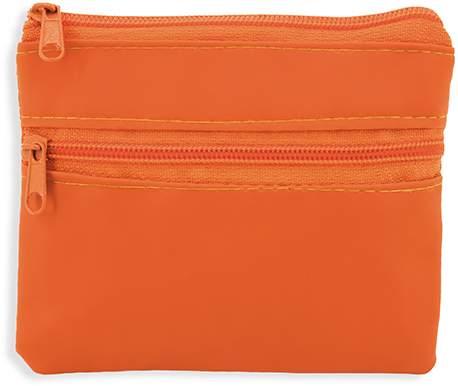 Peněženka se dvěma zipy, oranžová
