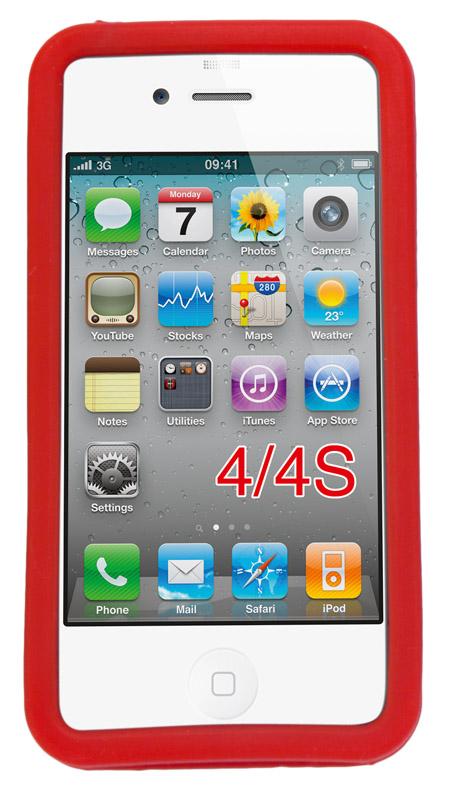 Červené pouzdro na iPhone