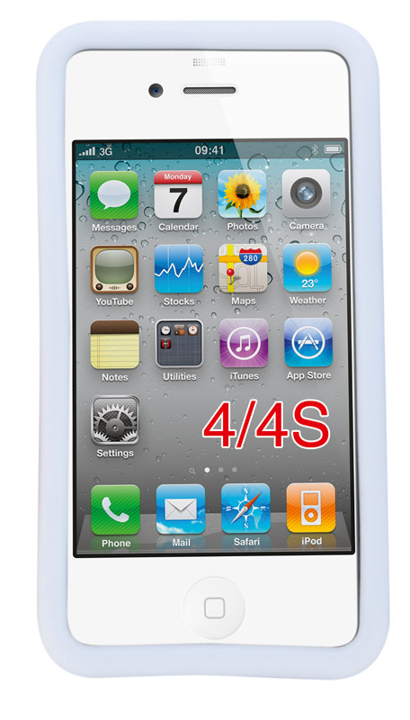 Bílé pouzdro na iPhone