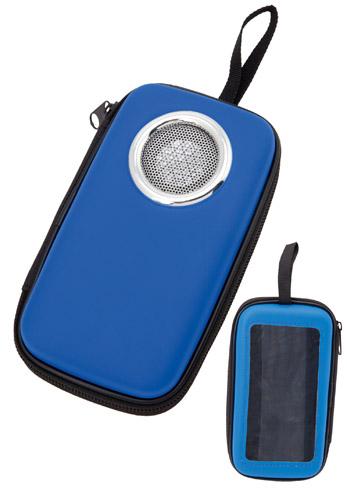 Scaly modré univerzální pouzdro s reproduktorem