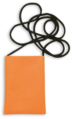 Ozores oranžové pouzdro na mobilní telefon se šňůrkou