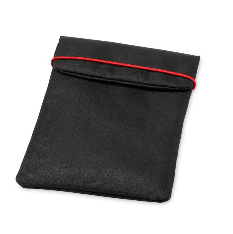 Černý miniobal na iPad se zavíráním s potiskem