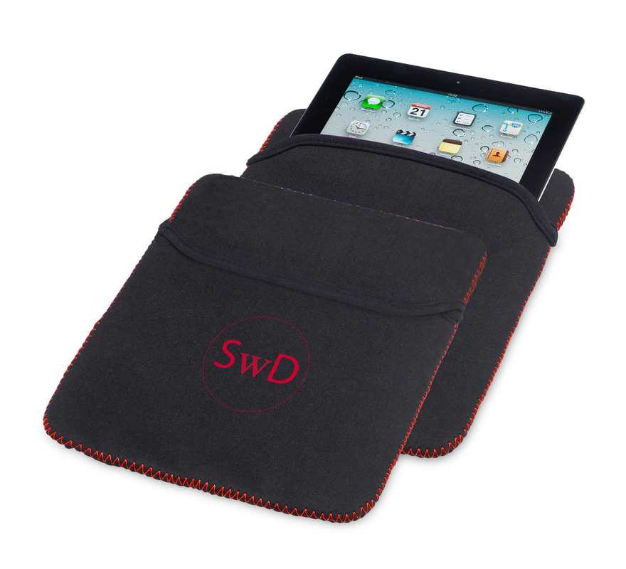 Obal na iPad červený s potiskem