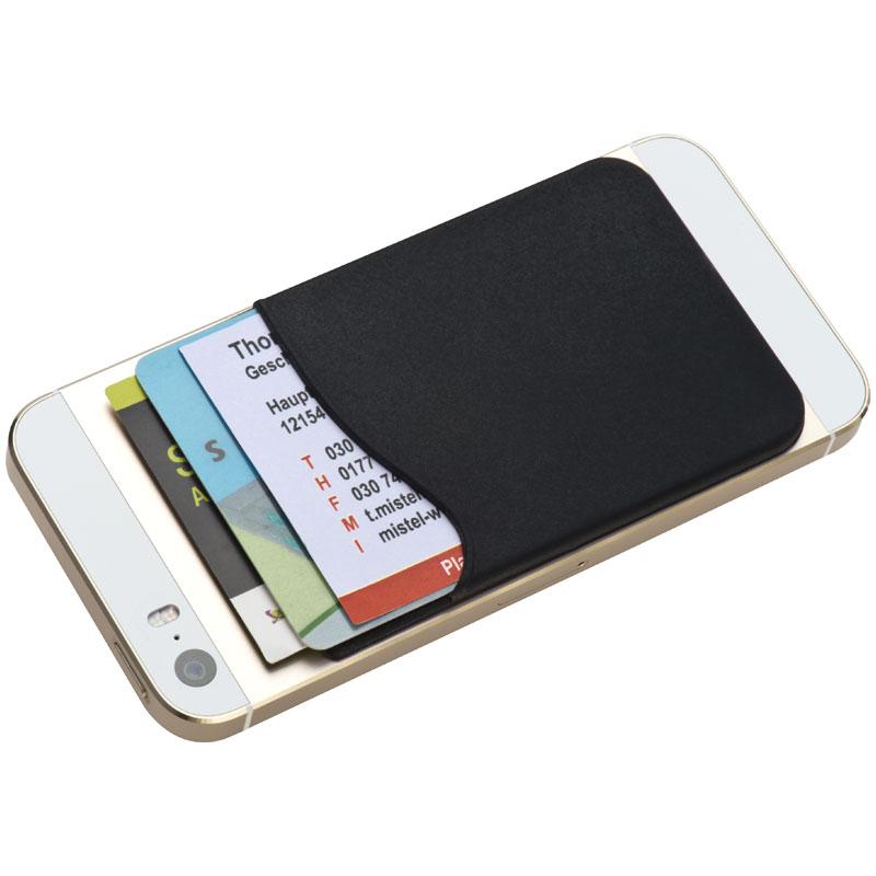 Černá silikonová kapsička na chytrý telefon