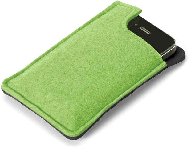 Obal na telefon světle zelený