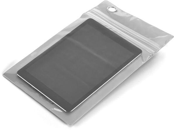 Obal na tablet dotykový matně stříbrný