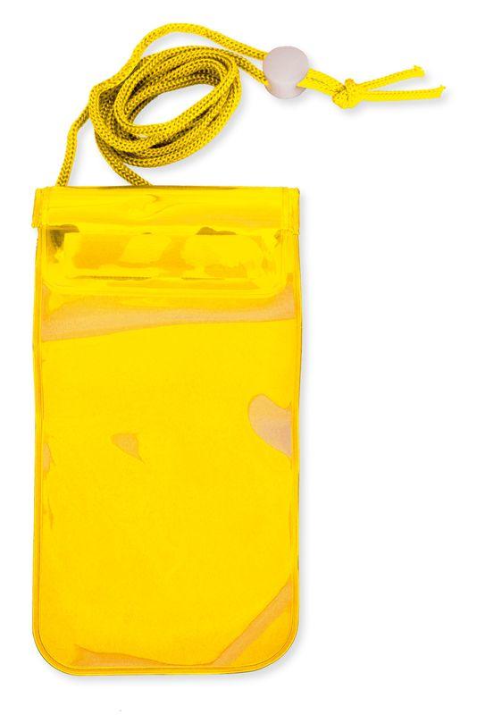 Voděodolný obal na mobil žlutý