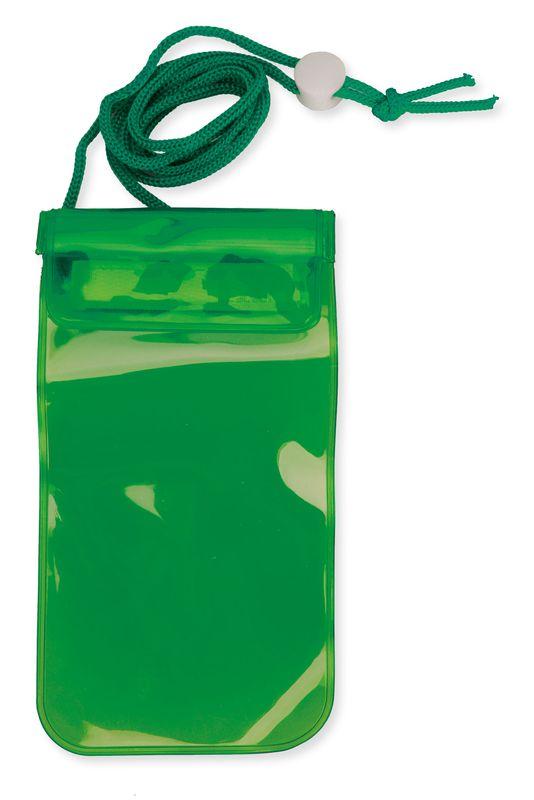 Voděodolný obal na mobil zelený