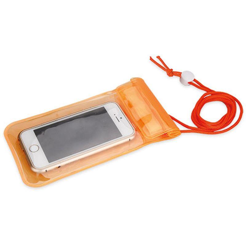 Voděodolný obal na mobil oranžový