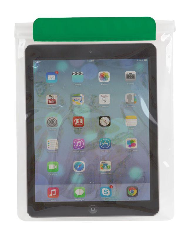 Voděodolný obal na tablet zelený
