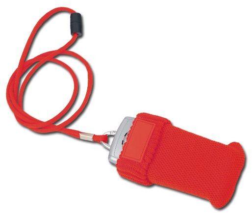 ALIZE textilní šňůrka na krk s obalem na telefon, červená