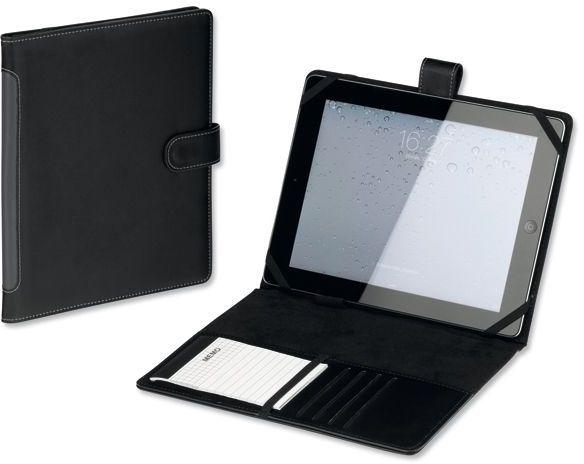 TABLETO obal na iPad z imitace kůže s bločkem, černá