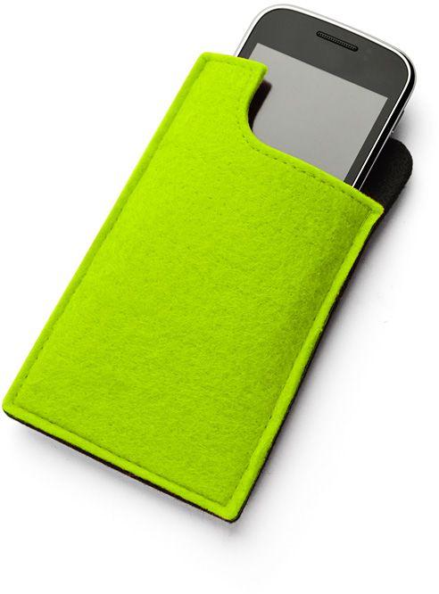 Kapsa na telefon SAKU světle zelená s potiskem